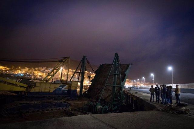 Consecuencias del temporal en Gran Tarajal