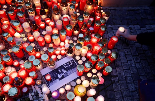 Homenaje al periodista Jan Kuciak