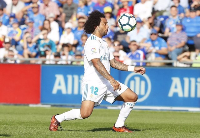 Marcelo Viera con el Real Madrid