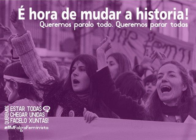 Huelga feminista del 8 de marzo en Galicia