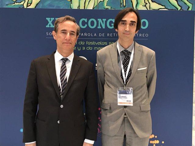 El vicepresidente de la SERV y el especialista Luis Arias barquet