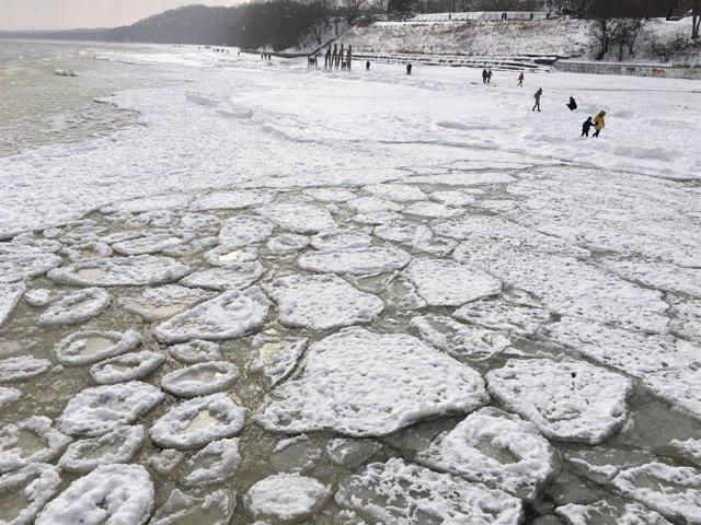 Ola de frío en Polonia