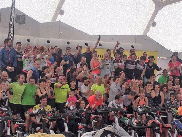 Valladolid.- Final del maratón de ciclo indoor