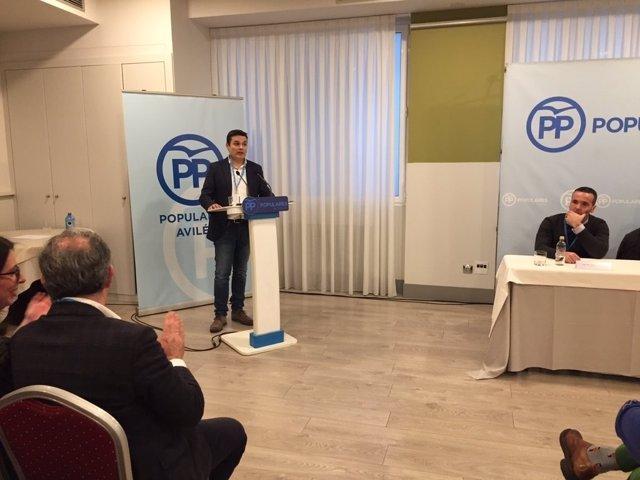 Pedro de Rueda, presidente del PP de Avilés