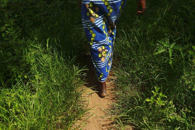 Mujer en Zambia
