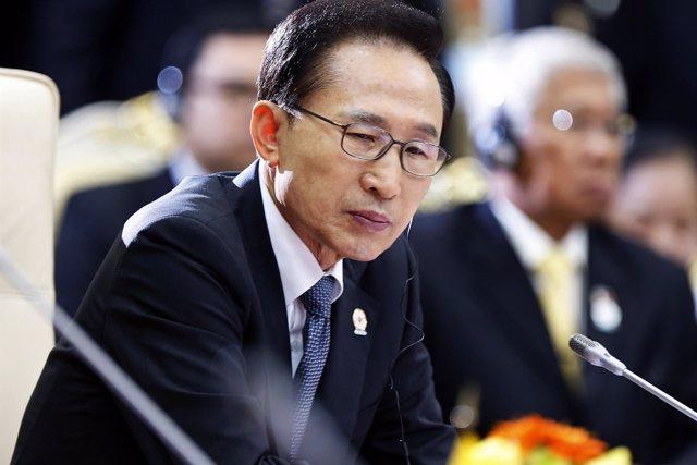 El expresidente de Corea del Sur Lee Myung-bak