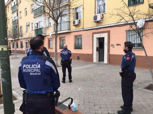 Policía Municipal en el lugar del suceso