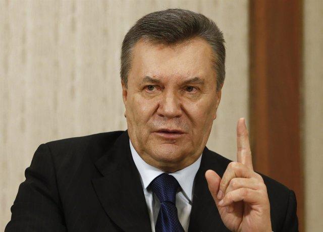 El ex presidente ucraniano Viktor Yanukovich en Moscú