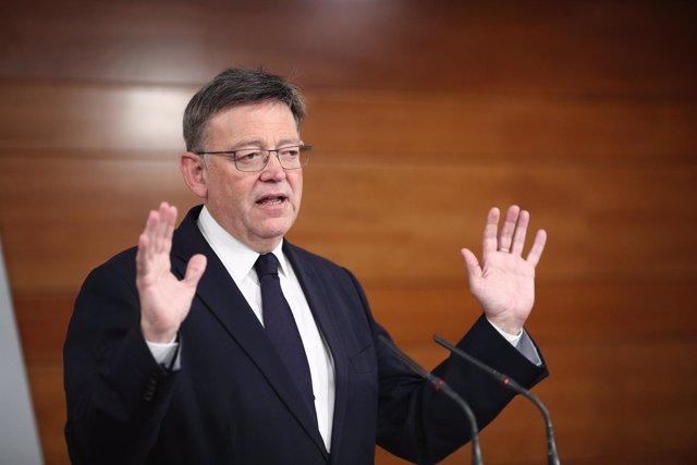 Rueda de prensa de Ximo Puig en imagen de archivo