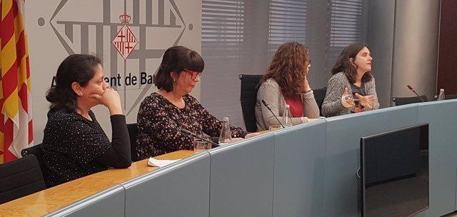 Norma Véliz, Maria Dolors Rodríguez, Laura Pérez y Gemma Tarafa