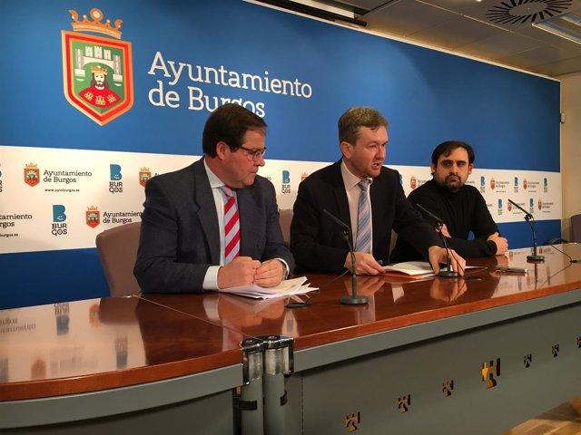 Salvador de Foronda, Javier Lacalle y Jorge Berzosa