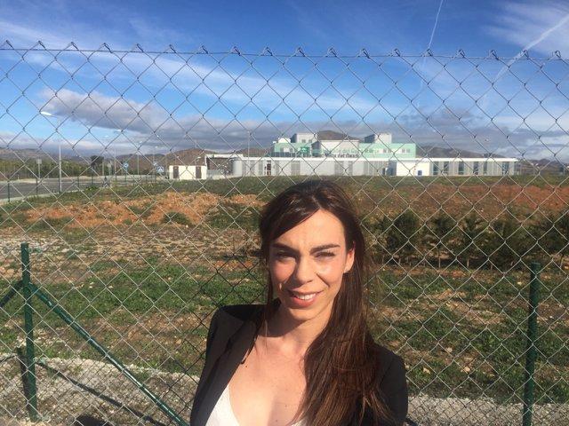 Teresa Pardo viceportavoz de Ciudadanos en Málaga con Chare Guardalhorce