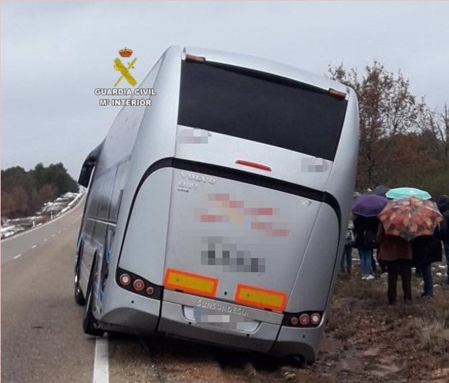 Zamora. Accidente autobús