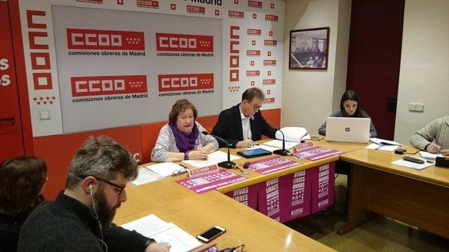 Jaime Cedrún y Pilar Morales en rueda de prensa