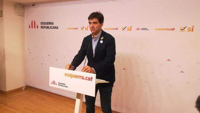 El portavoz de ERC Sergi Sabrià