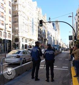 Policía Municipal en Gran Vía