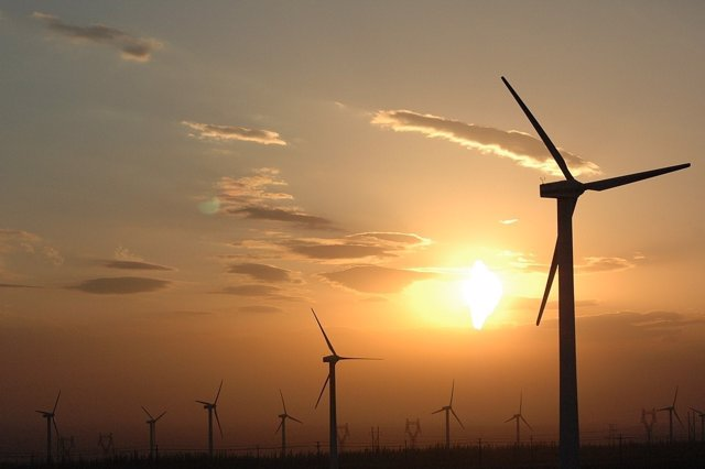 Generadores eólicos en China
