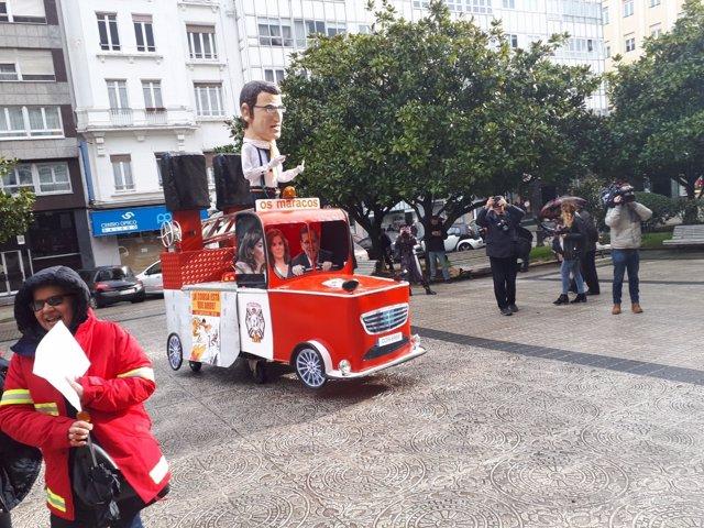 Protesta de la huelga de justicia