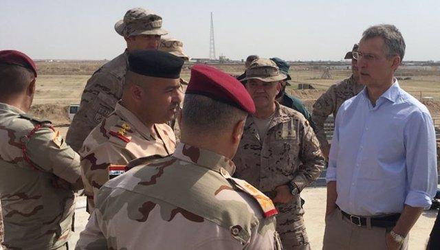 El secretario general de la OTAN, Jens Stoltenberg, en Irak