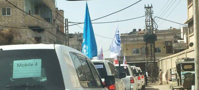 Convoy del PMA y la Media Luna Roja siria en Ghuta Oriental