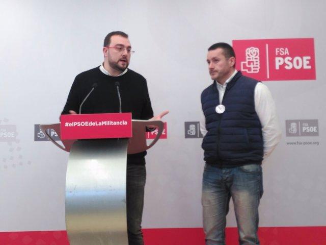 Adrián Barbón y Javier Fernández Lanero
