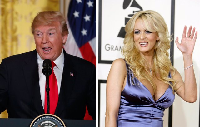 Donald Trump y la actriz porno Stormy Daniels