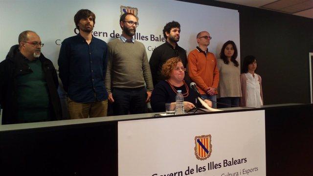 Ruth Mateu en la rueda de prensa en la que anunció su dimisión en marzo
