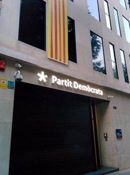 Sede del PDeCAT de la calle Provença de Barcelona