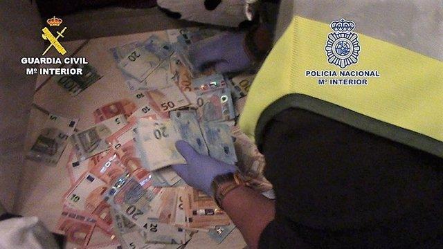 DInero intervenido a narcos en una operación en Cádiz