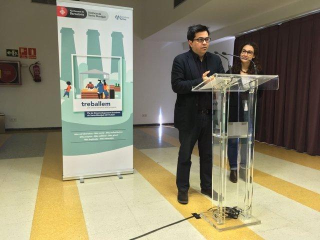 Gerardo Pisarello y Laura Pérez presentan el Plan de Desarrollo Económico