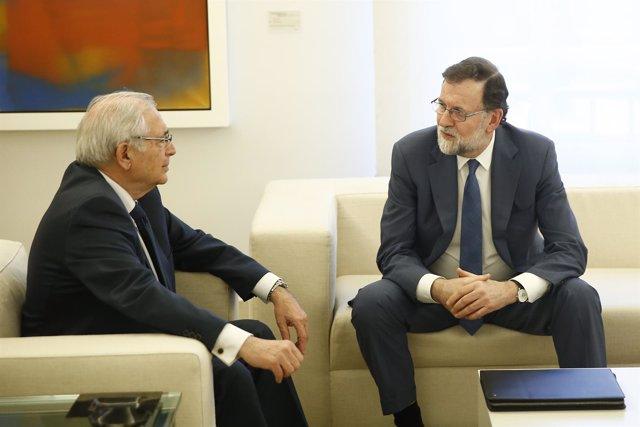 Mariano Rajoy recibe en la Moncloa a Juan José Imbroda