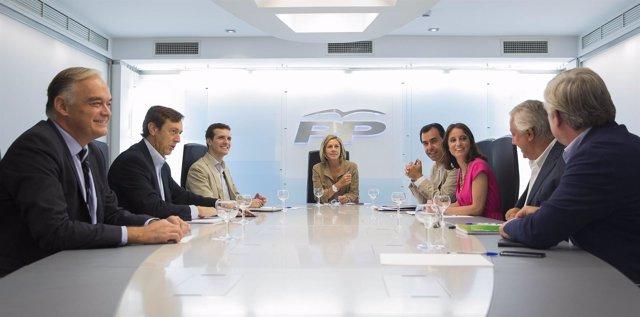 María Dolores de Cospedal, José Manuel Barreiro, Javier Arenas, Andrea Levy,