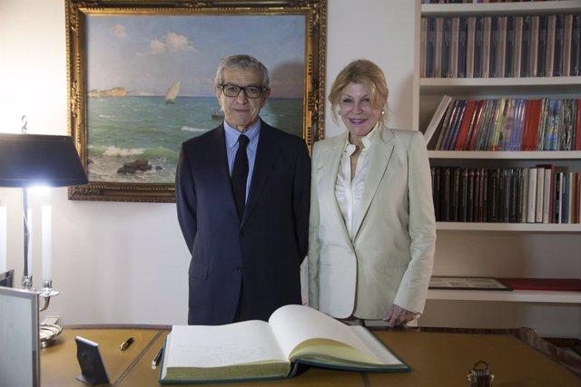 Braulio Medel y Carmen Thyssen