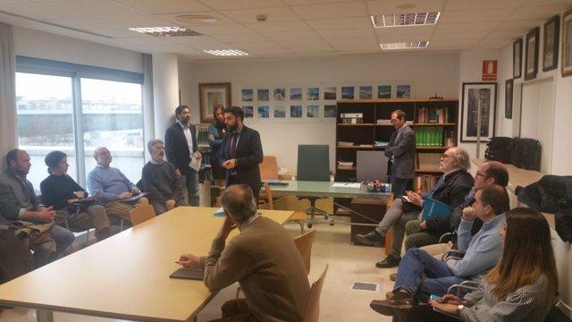El diputado provincial Fran González en un encuentro sobre Vivienda