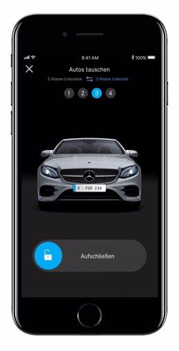 Nueva App de Mercedes-Benz para alquiler de vehículos