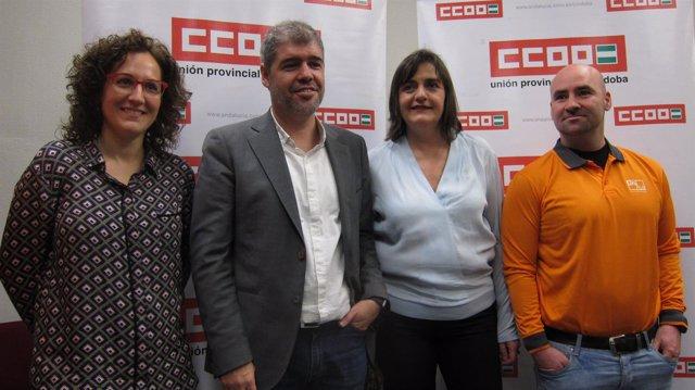 Nuria López con Unai Sordo y Marina Borrego