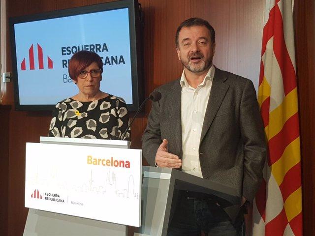 Alfred Bosch y Trini Capdevila (ERC)