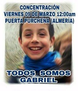 Concentración por la desaparición de Gabriel Cruz
