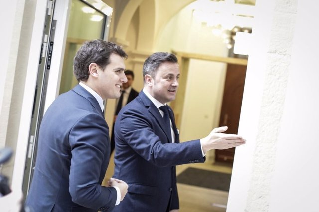 Albert Rivera y Xavier Bettel