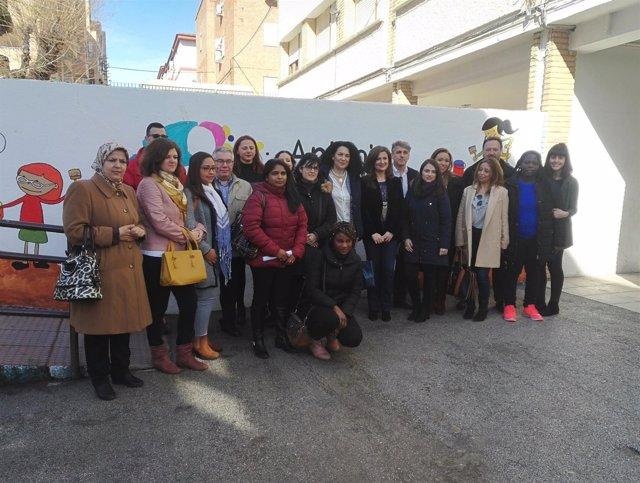 Celebración del Día Internacional de la Mujer en el colegio Antonio Prieto.