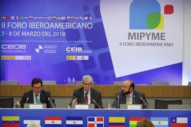 El ministro Dastis en el II Foro Iberoamericano de la M;pyme