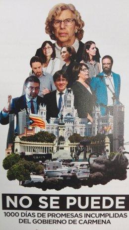 """PP carga contra el """"Gobierno del cambio a peor de Carmena"""""""