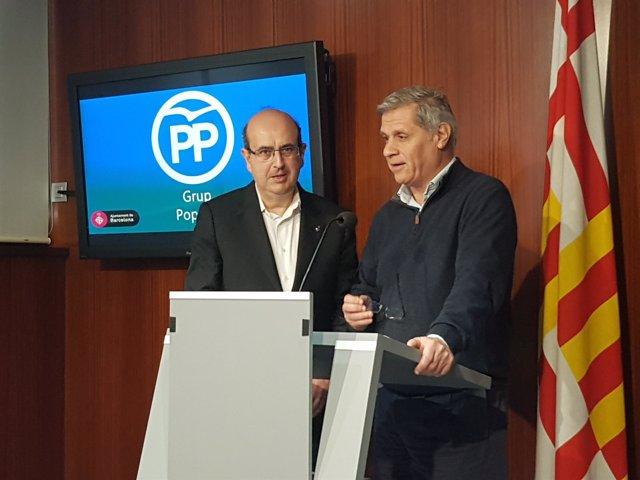 Alberto Fernández y Javier Mulleras, PP