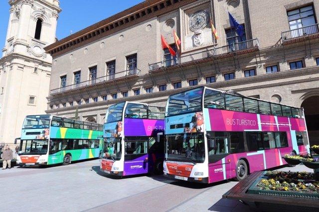 Buses turísticos de Zaragoza.