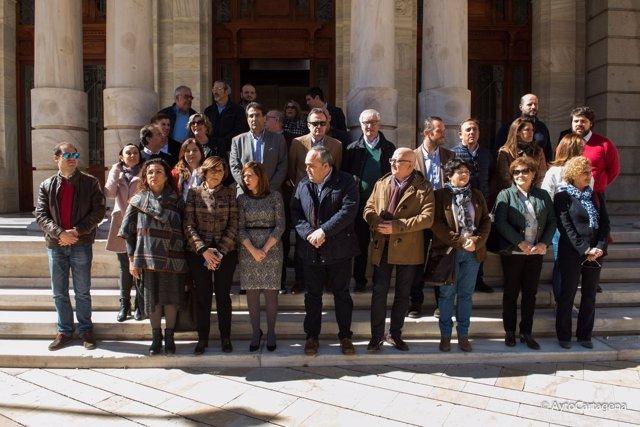 PARO EN APOYO AGRICULTORES CON ALCALDESA Y PRESIDENTA ASAMBLEA