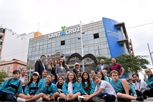 Inauguración del 'Corazón de Tenerife, solidario'