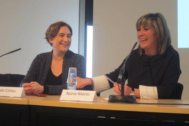 Las alcaldesas de Barcelona, Ada Colau, y L'Hospitalet de Llobregat, Núria Marín