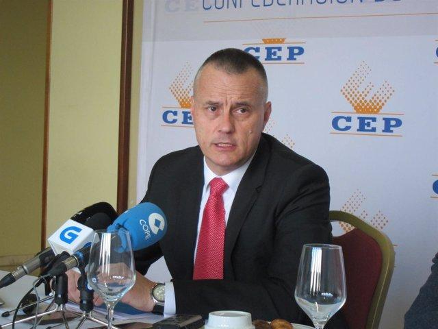 Jorge Cebreiros, presidente de la Confederación de Empresarios de Pontevedra