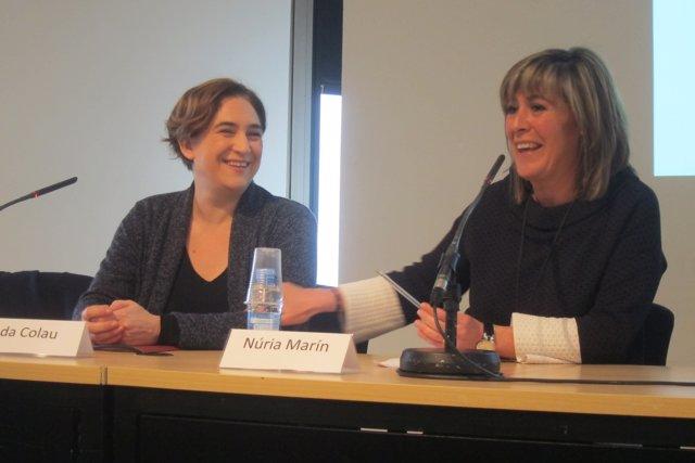 Ada Colau i Núria Marín