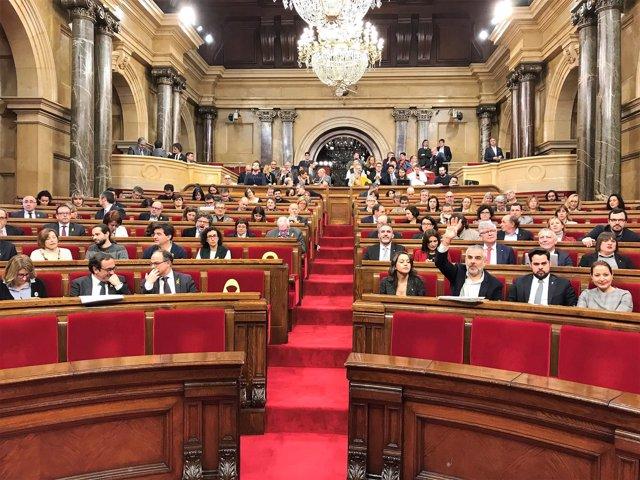 Pleno del Parlament del Catalunya